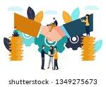 vector illustration  business... | Shutterstock .eps vector #1349275673