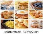 breakfast food collage includes ...   Shutterstock . vector #134927804