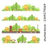 set of vector park design...   Shutterstock .eps vector #1349279069
