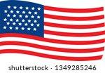 waving flag usa on white... | Shutterstock .eps vector #1349285246