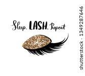 sleep lash repeat. hand... | Shutterstock .eps vector #1349287646