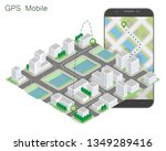 city map route navigation... | Shutterstock .eps vector #1349289416