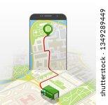 city map route navigation... | Shutterstock .eps vector #1349289449