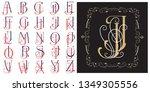 vector set monogram for... | Shutterstock .eps vector #1349305556