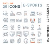 set of vector line icons of e... | Shutterstock .eps vector #1349320679