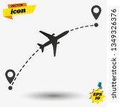 airplane flight route. flight... | Shutterstock .eps vector #1349326376