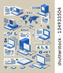 computer evolution info graphic ... | Shutterstock .eps vector #134933504