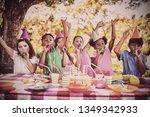 cute children having fun during ... | Shutterstock . vector #1349342933