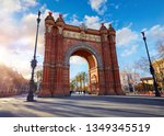 sunrise at triumphal arch in... | Shutterstock . vector #1349345519