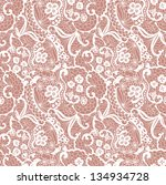 lace seamless pattern with... | Shutterstock .eps vector #134934728