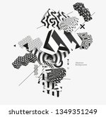 3d decorative shapes. abstract...   Shutterstock .eps vector #1349351249