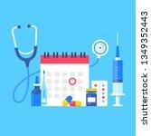medical exam. vector... | Shutterstock .eps vector #1349352443