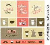 coffee design set   Shutterstock .eps vector #134935736