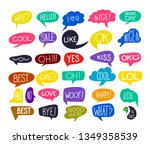 set of colorful questions... | Shutterstock .eps vector #1349358539