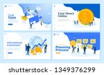 web page design templates... | Shutterstock .eps vector #1349376299