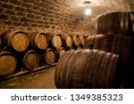 barrels in a wine cellar | Shutterstock . vector #1349385323