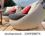 Soft Wicker Armchairs With...