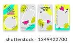 vector trendy tropic editable... | Shutterstock .eps vector #1349422700