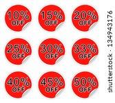 set of discount labels. part... | Shutterstock . vector #134943176