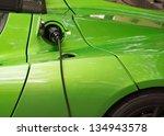 green electric car charging ...