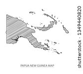 scribble sketch of papua new...   Shutterstock .eps vector #1349440820