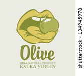 olive in the language of the... | Shutterstock .eps vector #134945978