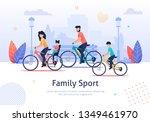 family sport banner vector... | Shutterstock .eps vector #1349461970