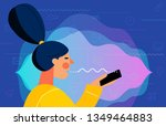 using voice assistant concept...   Shutterstock .eps vector #1349464883