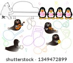 show time of the animal of the... | Shutterstock .eps vector #1349472899