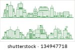 ecology city and elements... | Shutterstock .eps vector #134947718