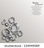 gears background | Shutterstock .eps vector #134949089