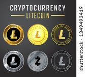 litecoin collection is one of...   Shutterstock .eps vector #1349493419
