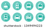 simple set of public transport... | Shutterstock .eps vector #1349494223