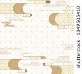 japanese wave template vector.... | Shutterstock .eps vector #1349505410