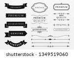 vintage banner and design... | Shutterstock .eps vector #1349519060