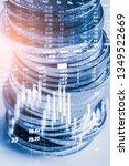 stock market or forex trading...   Shutterstock . vector #1349522669