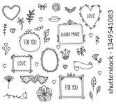 scrapbook elements. hand drawn... | Shutterstock .eps vector #1349541083