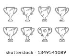 trophy cup. champion awards cup ... | Shutterstock .eps vector #1349541089
