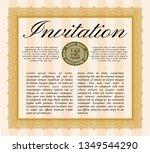 orange invitation template.... | Shutterstock .eps vector #1349544290