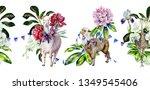 watercolor seamless pattern of  ...   Shutterstock . vector #1349545406