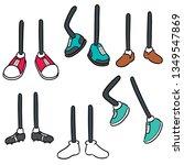 vector set of cartoon leg | Shutterstock .eps vector #1349547869