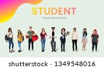 young student character mockups ... | Shutterstock . vector #1349548016