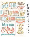 save the date wedding... | Shutterstock .eps vector #134955470
