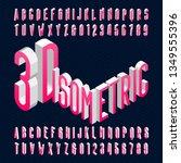 3d isometric alphabet font. 3d...   Shutterstock .eps vector #1349555396