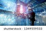double exposure mixed media.... | Shutterstock . vector #1349559533