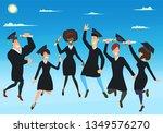 international students... | Shutterstock .eps vector #1349576270