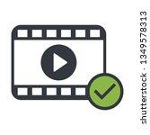 play video modern icon strip...