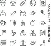 thin line vector icon set  ... | Shutterstock .eps vector #1349579090