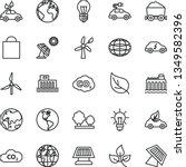thin line vector icon set  ... | Shutterstock .eps vector #1349582396