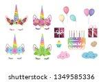 unicorn constructor for... | Shutterstock . vector #1349585336